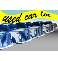 Used car lot vector