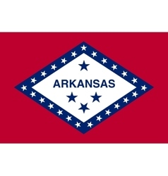 Flag of arkansas in correct size and color vector