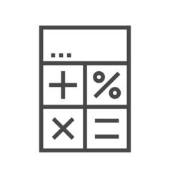 Calculator line icon vector