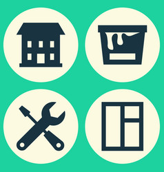 Industry icons set collection of home service vector