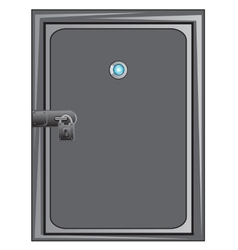 Steel door with outboard lock vector