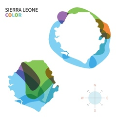 Abstract color map of sierra leone vector