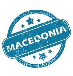 Macedonia round stamp vector