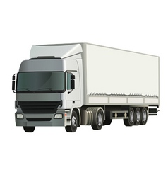 semitrailer truck vector image