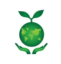 Green earth globe vector