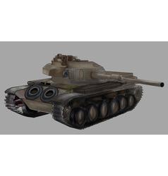 Tank image isolated khaki machine vector image