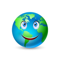 Smiling planet earth vector