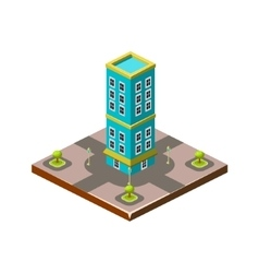 Isometric icon representing modern house with vector