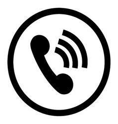 Phone icon connection black vector