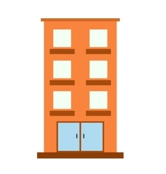 Three-storey house icon vector