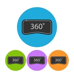360 vr round flat icon vector