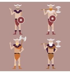 Set of Barbarians2 vector image