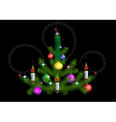 Christmas tree with candles vector image