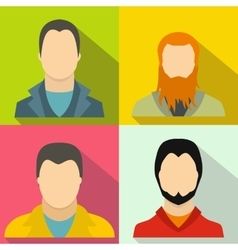 Avatar banners set flat style vector image