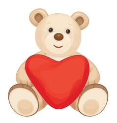 bear heart vector image