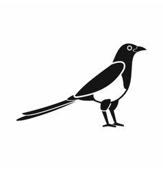Bird magpie icon simple style vector image
