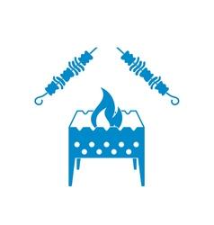 Brazier grill kebab icon vector