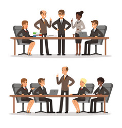 business character at the table in conference hall vector image vector image