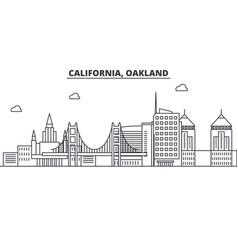 california oakland architecture line skyline vector image vector image