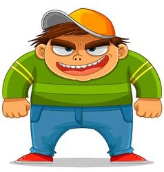 cartoon bully vector image