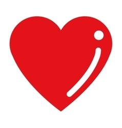 cartoon heart icon vector image vector image
