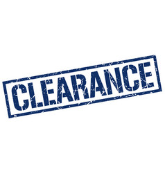 Clearance stamp vector