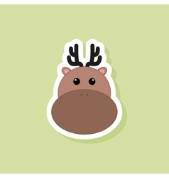 Cute deer face vector image vector image