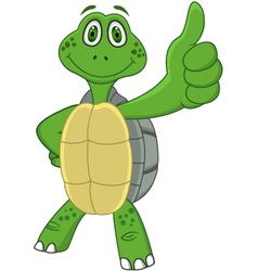 cute funny turtle cartoon vector image vector image