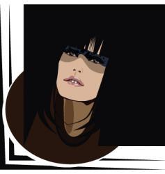 dark eyes vector image vector image