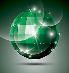 Dimensional green sparkling disco ball created vector