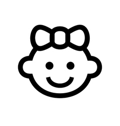 Girl Baby Face Icon Logo vector image