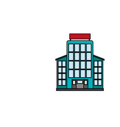 Hotel building icon image vector