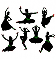 indian dance vector image vector image