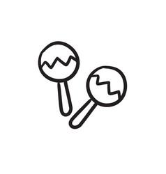 Maracas sketch icon vector