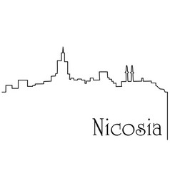 Nicosia city one line drawing background vector