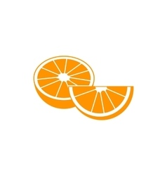 Orange fruit icon simple style vector