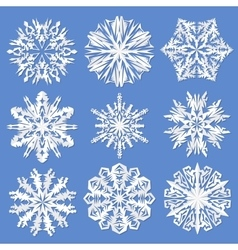 Paper snowflakes set vector