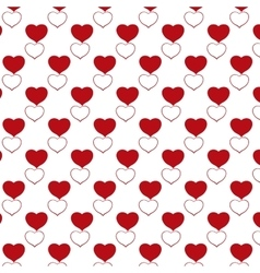 Red heart pattern with transparent background vector