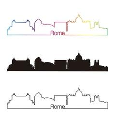 Rome skyline linear style with rainbow vector image vector image