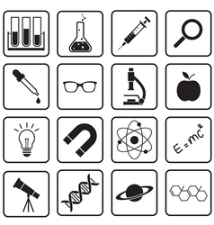 science icon vector image vector image
