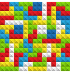 Seamless background of color blocks vector