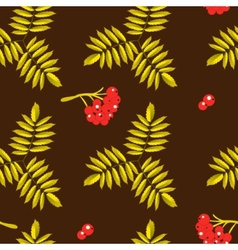 Seamless background with rowan vector image