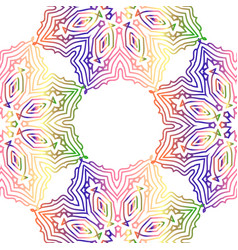Seamless multicolor pattern with oriental mandalas vector