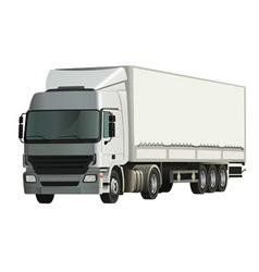 semitrailer truck vector image vector image