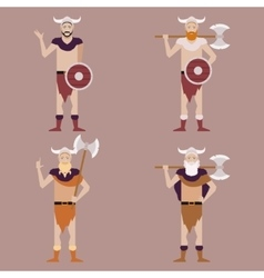 Set of Barbarians2 vector image vector image