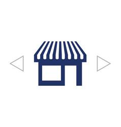 Showcase icon vector
