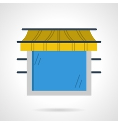 Storefront window flat color icon vector image