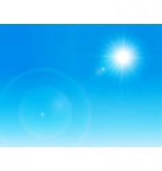 sun on a clear sky vector image