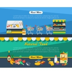 Supermarket advertising banners vector
