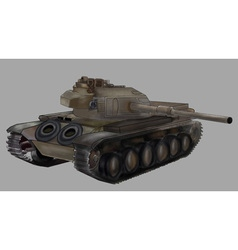 Tank image isolated khaki machine vector image